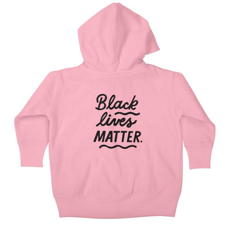 BLACK LIVES MATTER | 1 Kids Baby Zip-Up Hoody by 5 Eye Studio