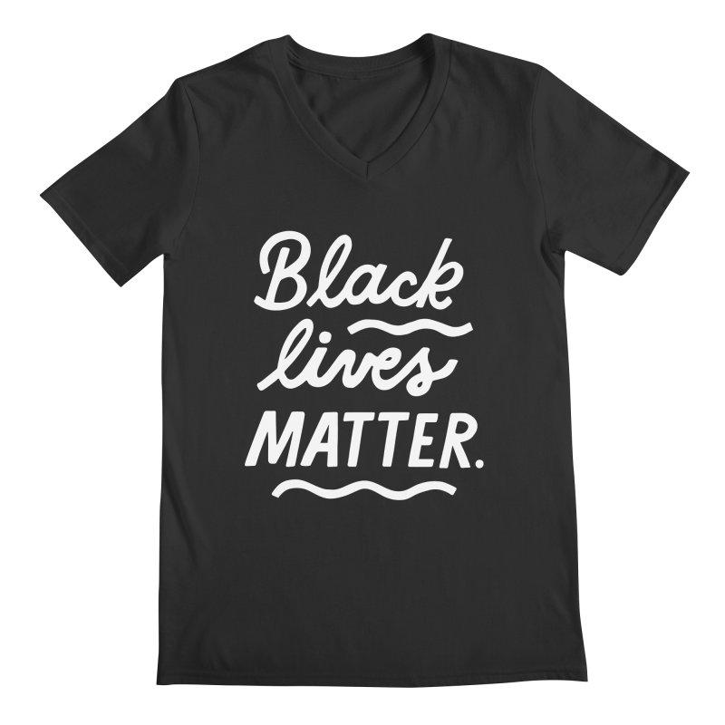 BLACK LIVES MATTER   2 Guys V-Neck by 5 Eye Studio