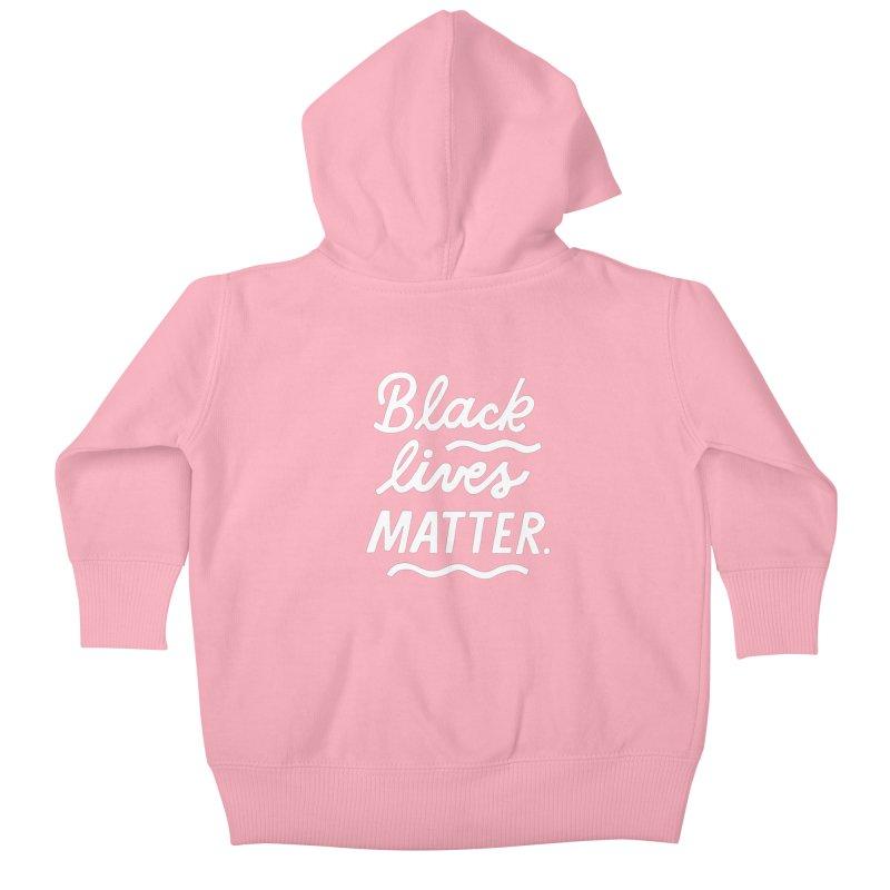 BLACK LIVES MATTER | 2 Kids Baby Zip-Up Hoody by 5 Eye Studio
