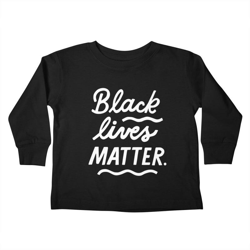 BLACK LIVES MATTER | 2 Kids Toddler Longsleeve T-Shirt by 5 Eye Studio