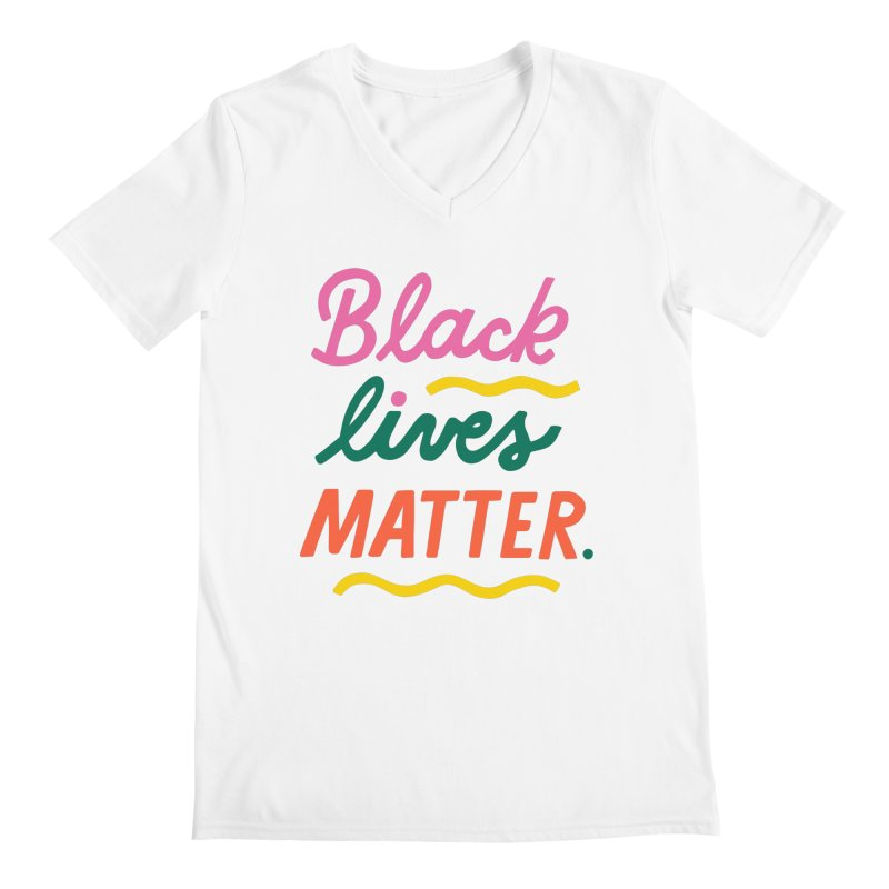 BLACK LIVES MATTER | 3 Men's V-Neck by 5 Eye Studio