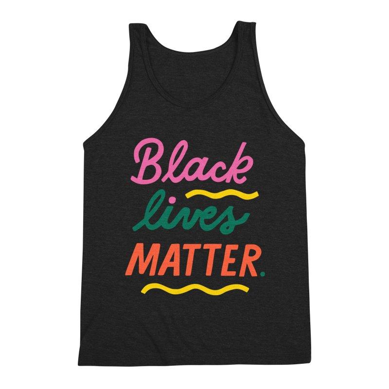 BLACK LIVES MATTER   3 Guys Tank by 5 Eye Studio