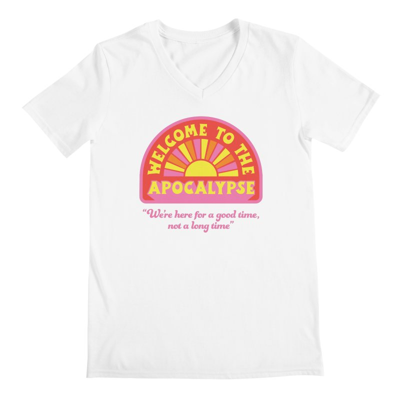 The Apocalypse is Nigh Men's V-Neck by 5 Eye Studio