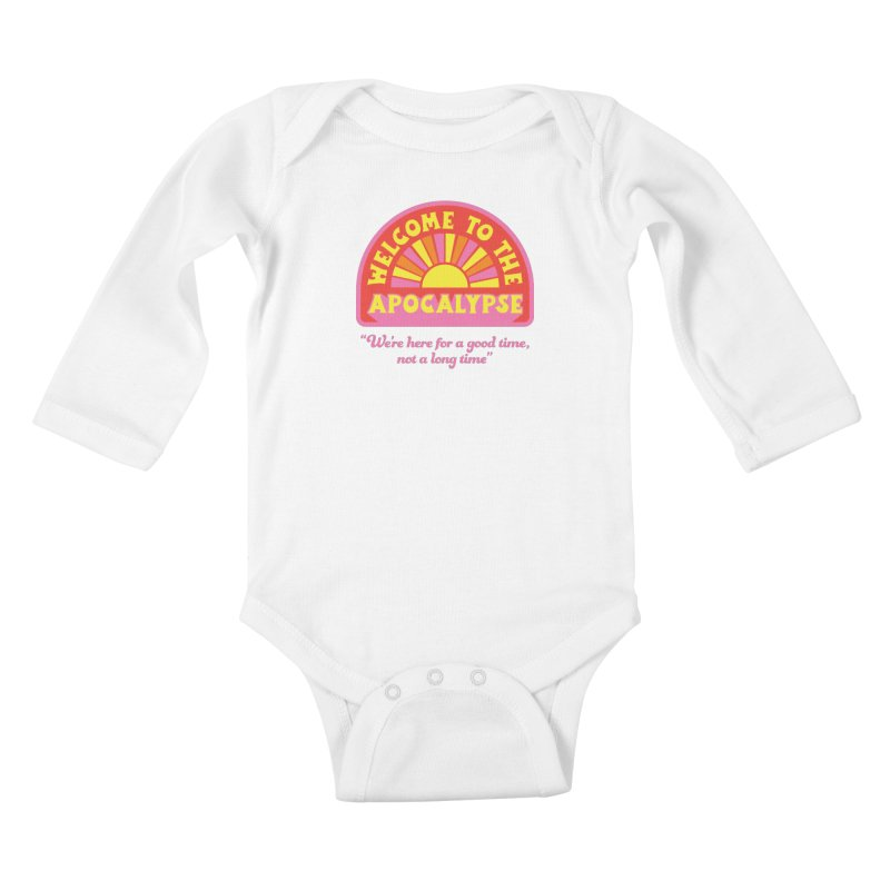 The Apocalypse is Nigh Kiddos Baby Longsleeve Bodysuit by 5 Eye Studio