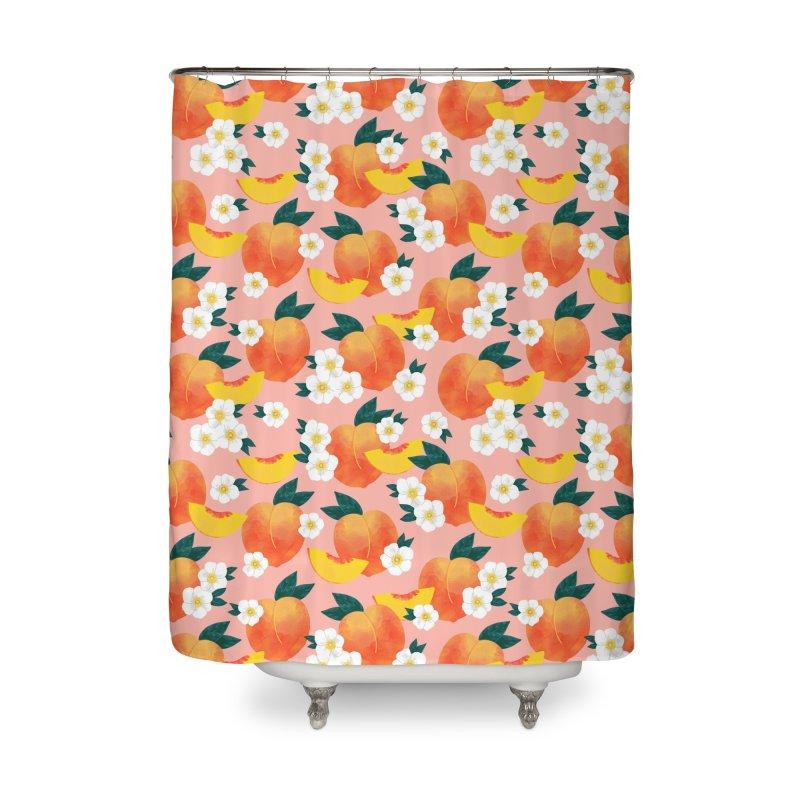 Peachy Keen Housewares Shower Curtain by 5 Eye Studio