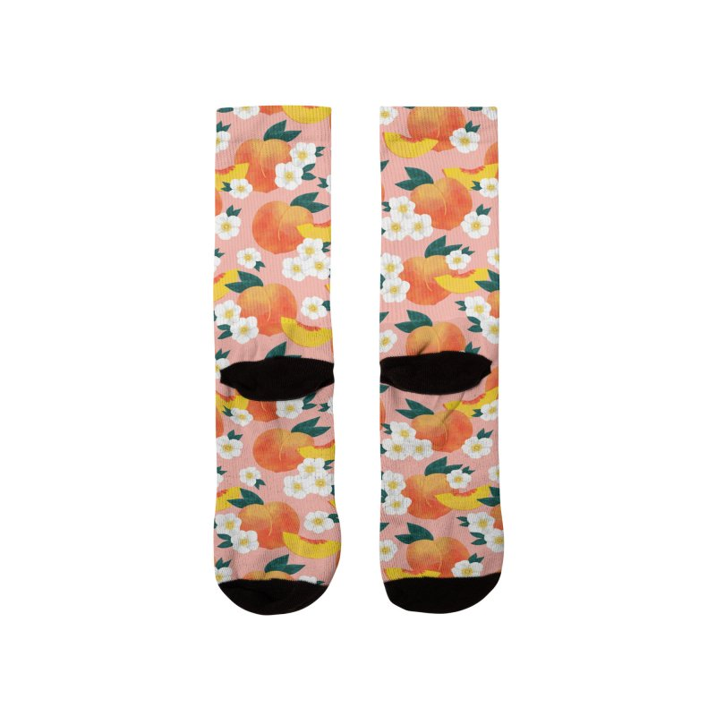 Peachy Keen Women's Socks by 5 Eye Studio