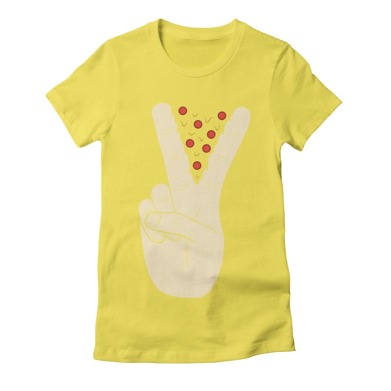 Peace-Za Women's Fitted T-Shirt by 5eth's Artist Shop