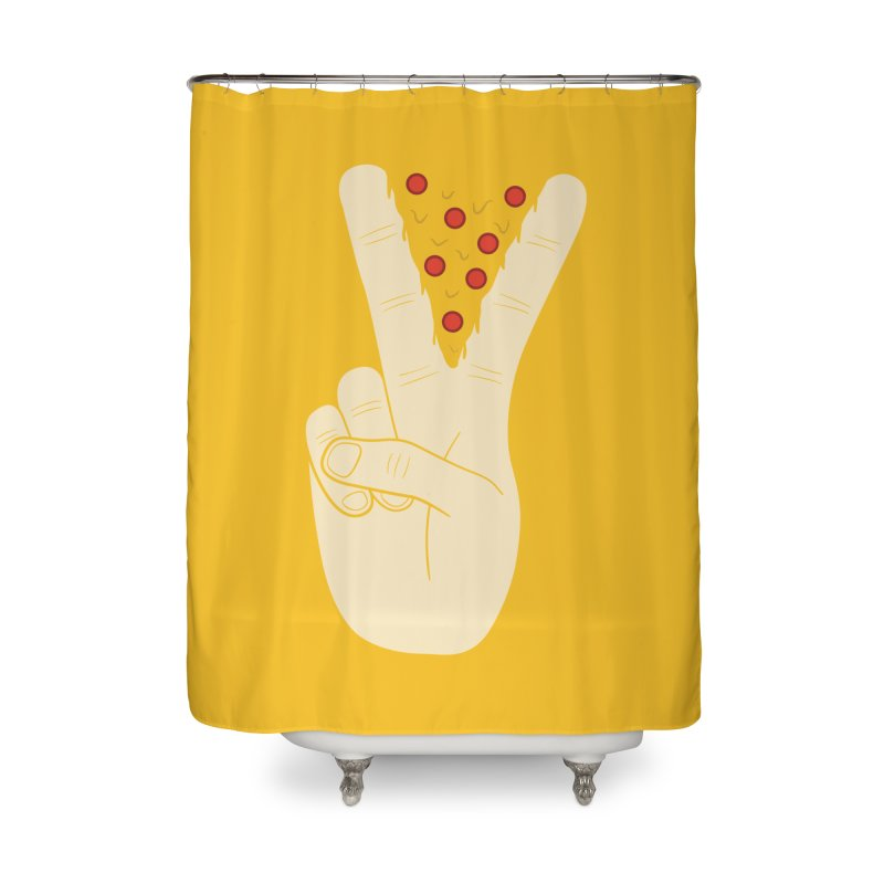 Peace-Za Home Shower Curtain by 5eth's Artist Shop