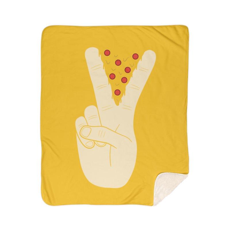 Peace-Za Home Sherpa Blanket Blanket by 5eth's Artist Shop