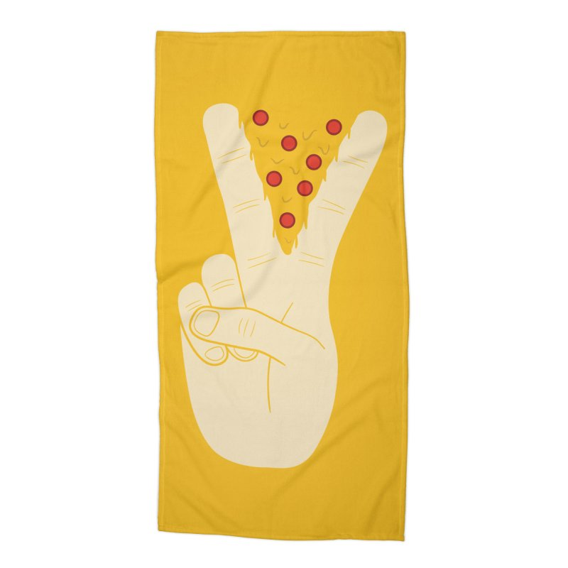 Peace-Za Accessories Beach Towel by 5eth's Artist Shop