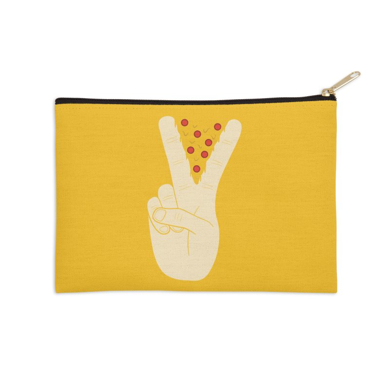 Peace-Za Accessories Zip Pouch by 5eth's Artist Shop