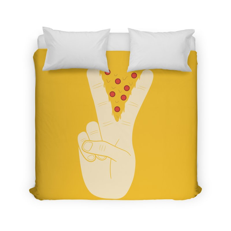 Peace-Za Home Duvet by 5eth's Artist Shop