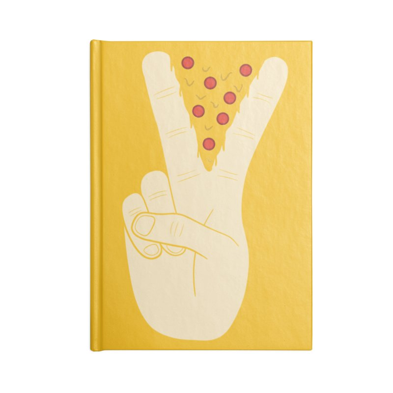 Peace-Za Accessories Lined Journal Notebook by 5eth's Artist Shop