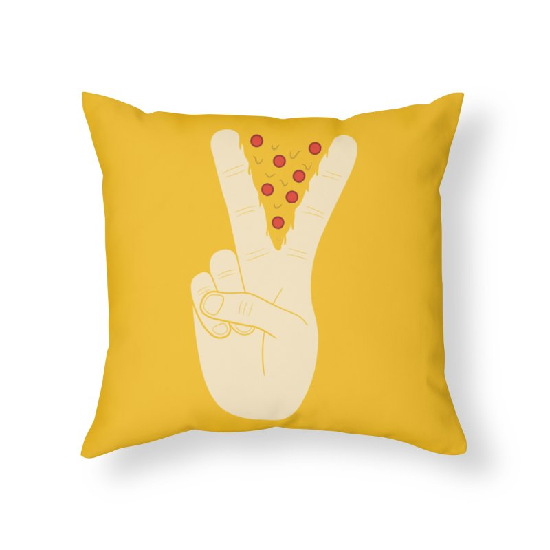 Peace-Za Home Throw Pillow by 5eth's Artist Shop