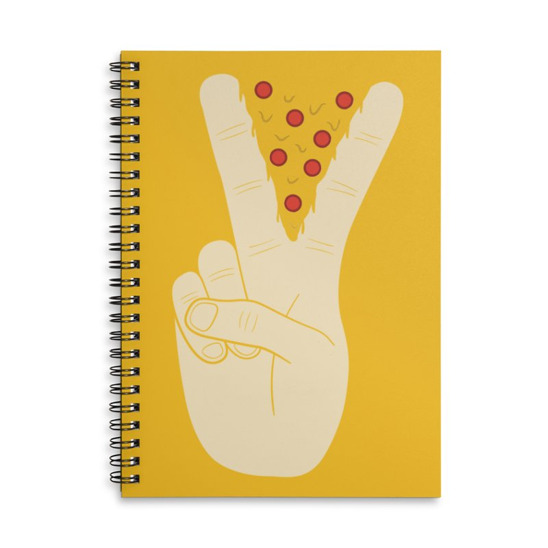 Peace-Za Accessories Lined Spiral Notebook by 5eth's Artist Shop