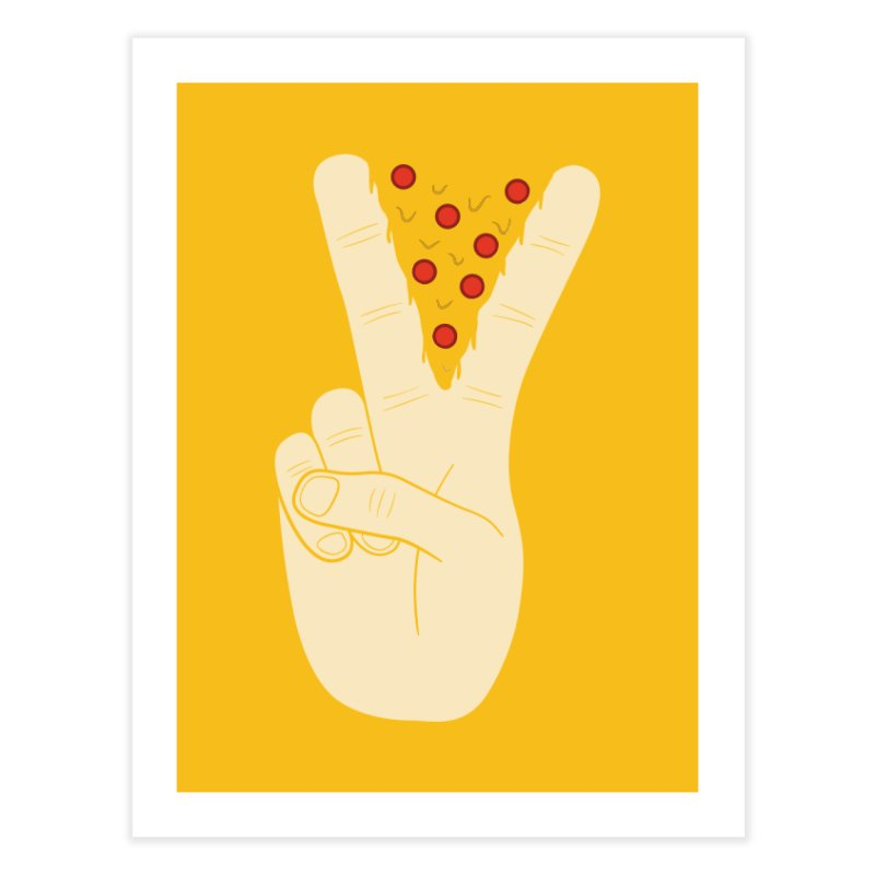 Peace-Za Home Fine Art Print by 5eth's Artist Shop