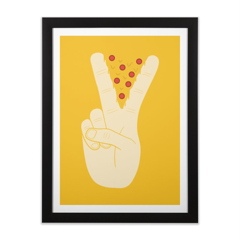 Peace-Za Home Framed Fine Art Print by 5eth's Artist Shop