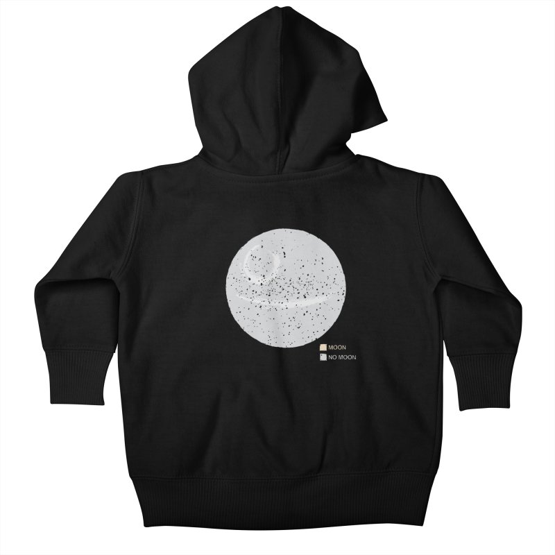No Moon Kids Baby Zip-Up Hoody by 5eth's Artist Shop