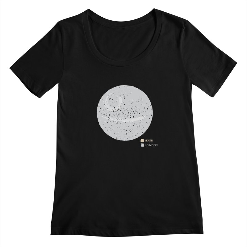 No Moon Women's Scoopneck by 5eth's Artist Shop