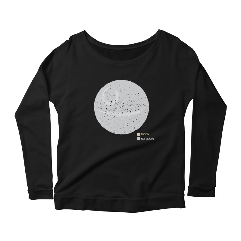 No Moon Women's Longsleeve Scoopneck  by 5eth's Artist Shop