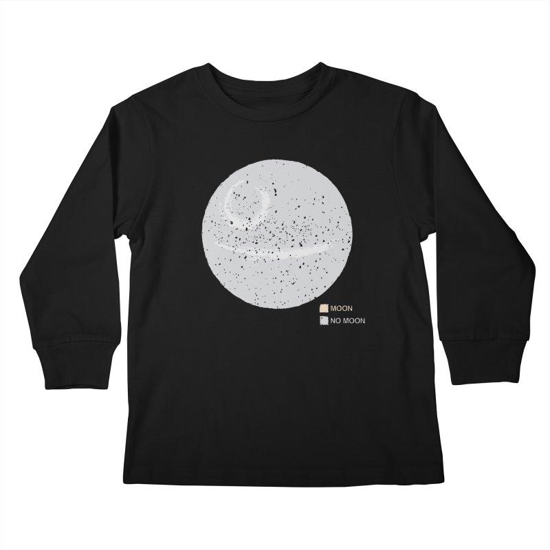 No Moon Kids Longsleeve T-Shirt by 5eth's Artist Shop