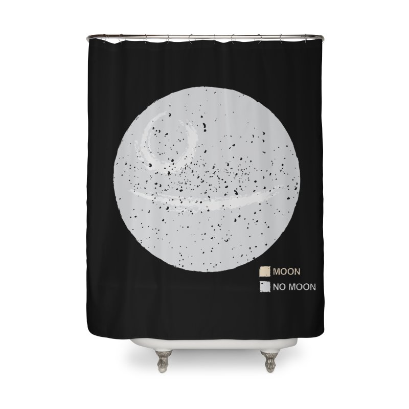 No Moon Home Shower Curtain by 5eth's Artist Shop