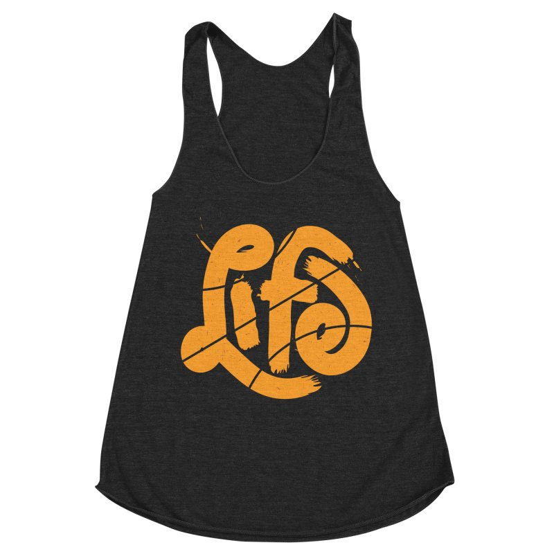 Ball is Life Women's Racerback Triblend Tank by 5eth's Artist Shop