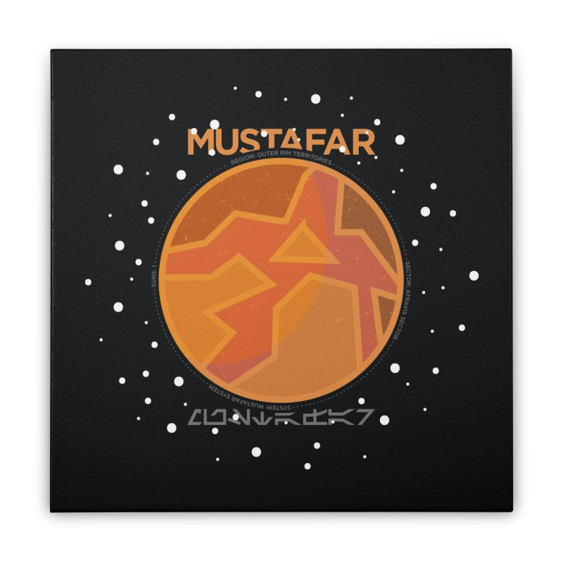 Mustafar Home Stretched Canvas by 5eth's Artist Shop