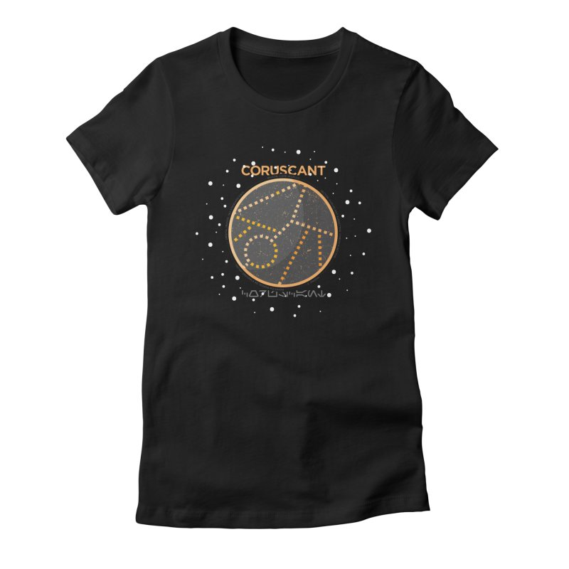 Coruscant Women's Fitted T-Shirt by 5eth's Artist Shop
