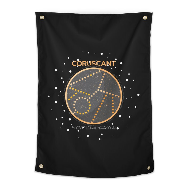 Coruscant Home Tapestry by 5eth's Artist Shop