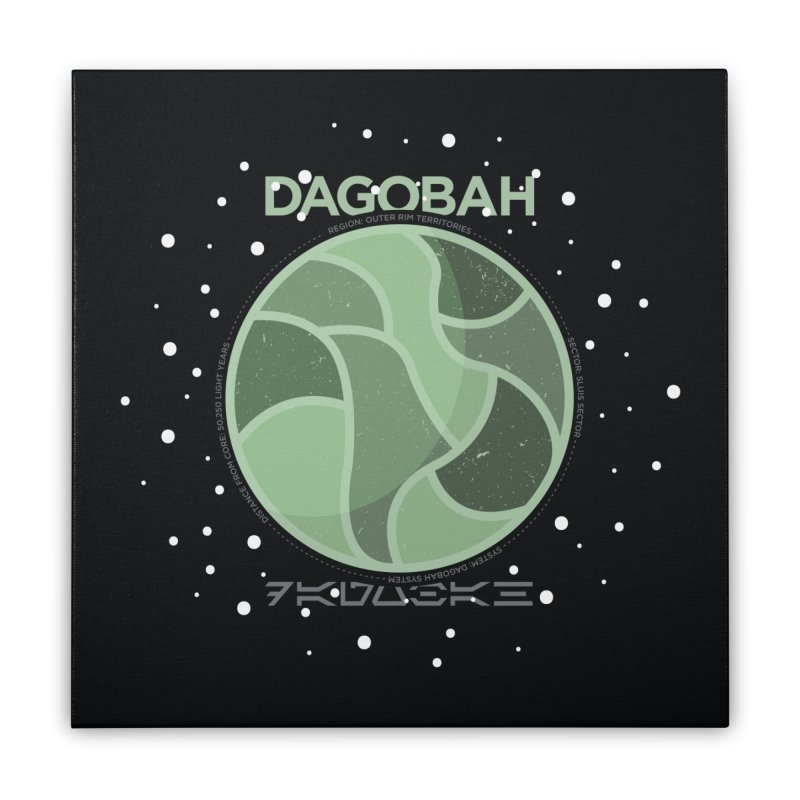 Dagobah Home Stretched Canvas by 5eth's Artist Shop