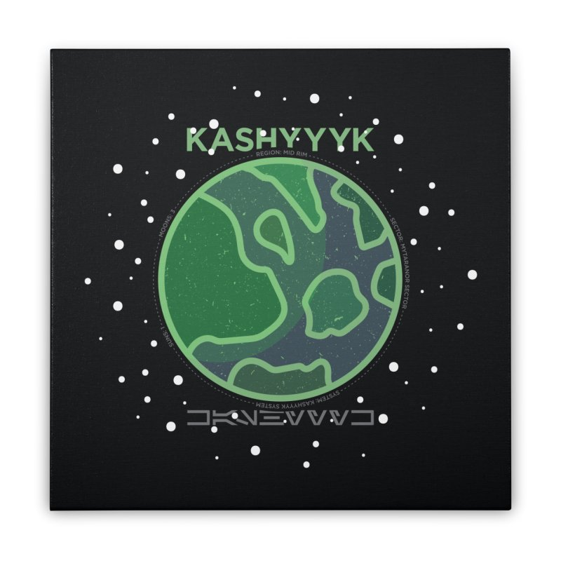 Kashyyyk Home Stretched Canvas by 5eth's Artist Shop