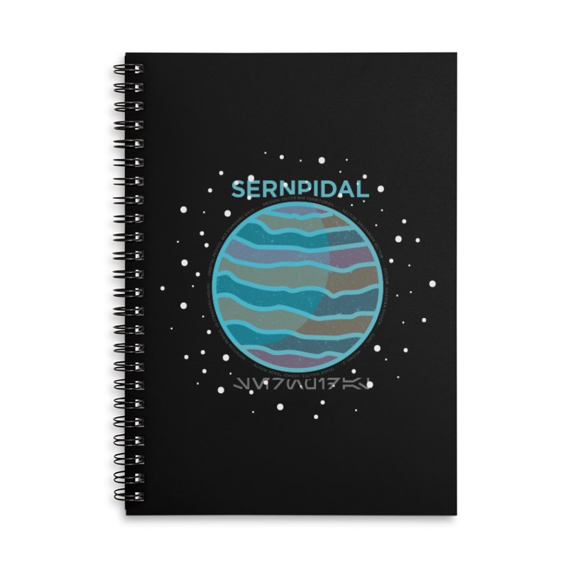 Sernpidal Accessories Lined Spiral Notebook by 5eth's Artist Shop