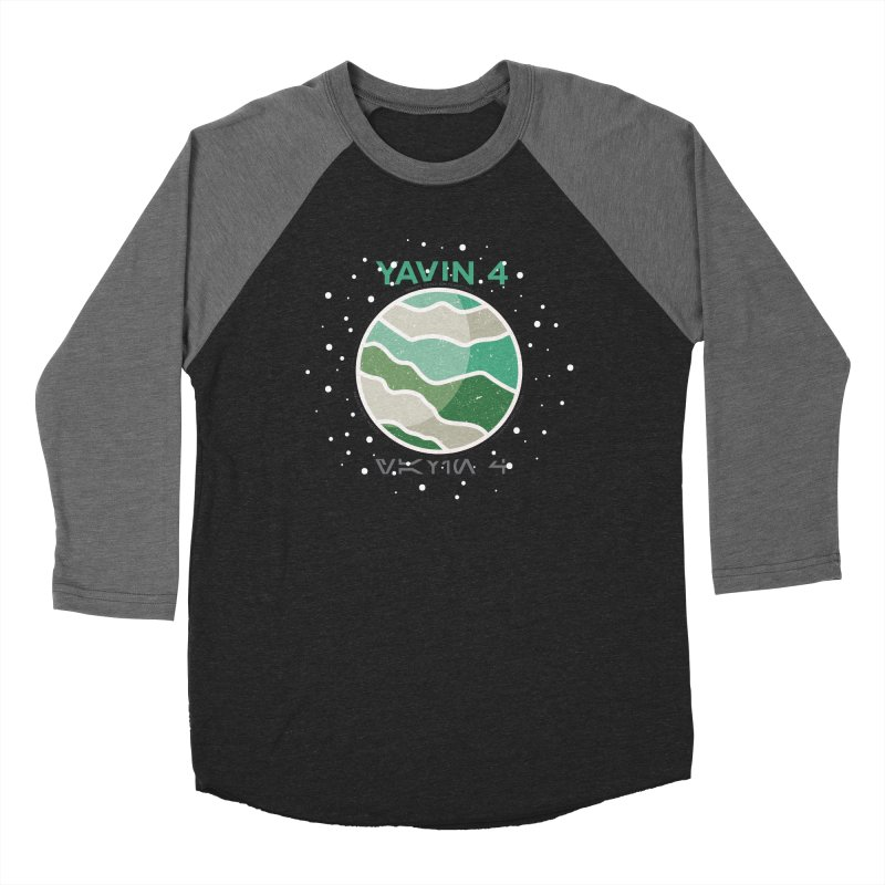 Yavin 4 Men's Baseball Triblend T-Shirt by 5eth's Artist Shop