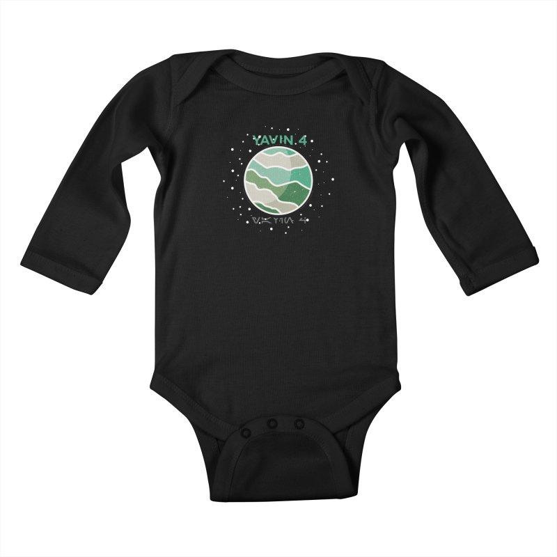 Yavin 4 Kids Baby Longsleeve Bodysuit by 5eth's Artist Shop