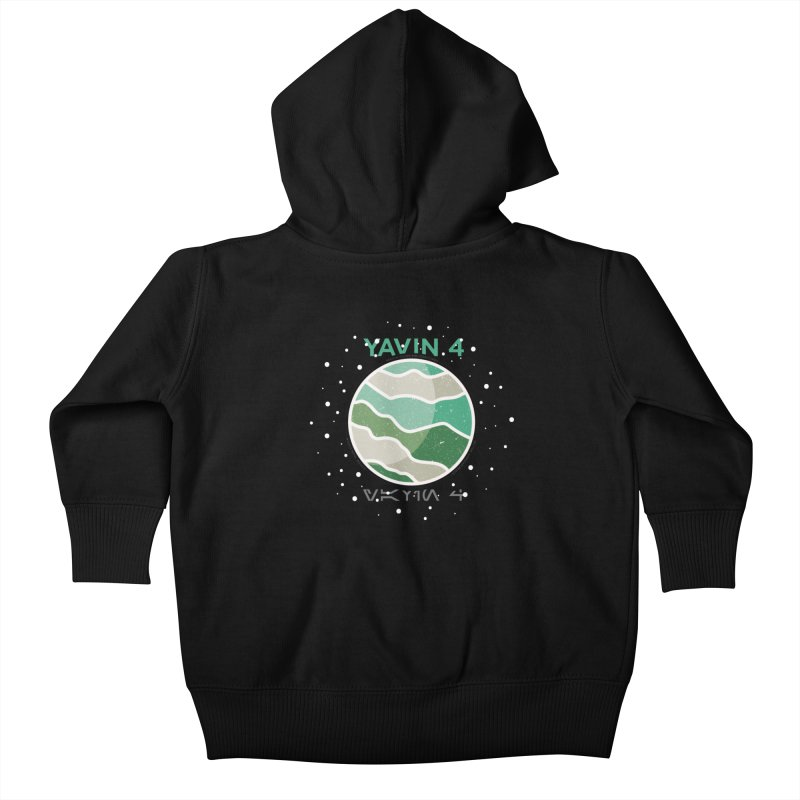 Yavin 4 Kids Baby Zip-Up Hoody by 5eth's Artist Shop