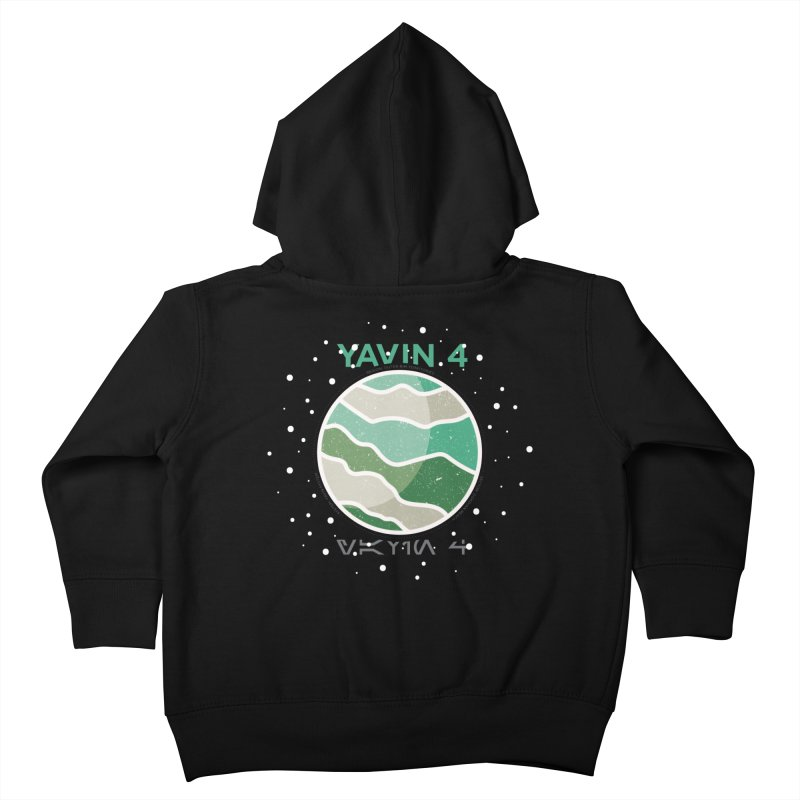 Yavin 4 Kids Toddler Zip-Up Hoody by 5eth's Artist Shop