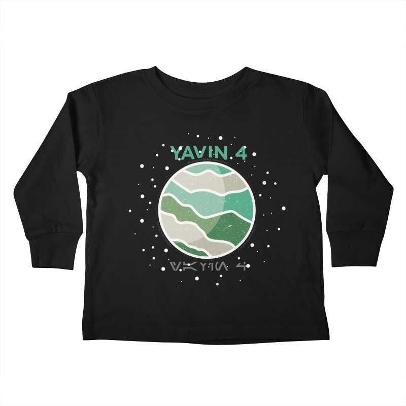 Yavin 4 Kids Toddler Longsleeve T-Shirt by 5eth's Artist Shop