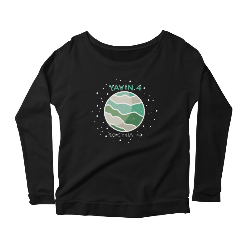 Yavin 4 Women's Scoop Neck Longsleeve T-Shirt by 5eth's Artist Shop
