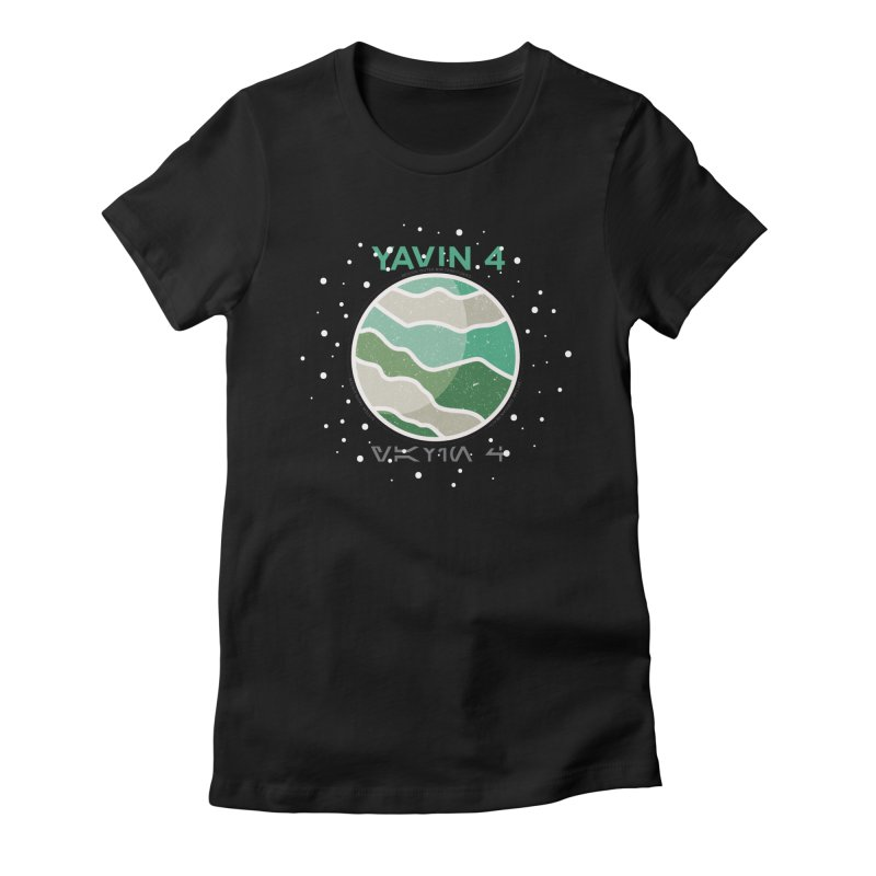 Yavin 4 Women's Fitted T-Shirt by 5eth's Artist Shop