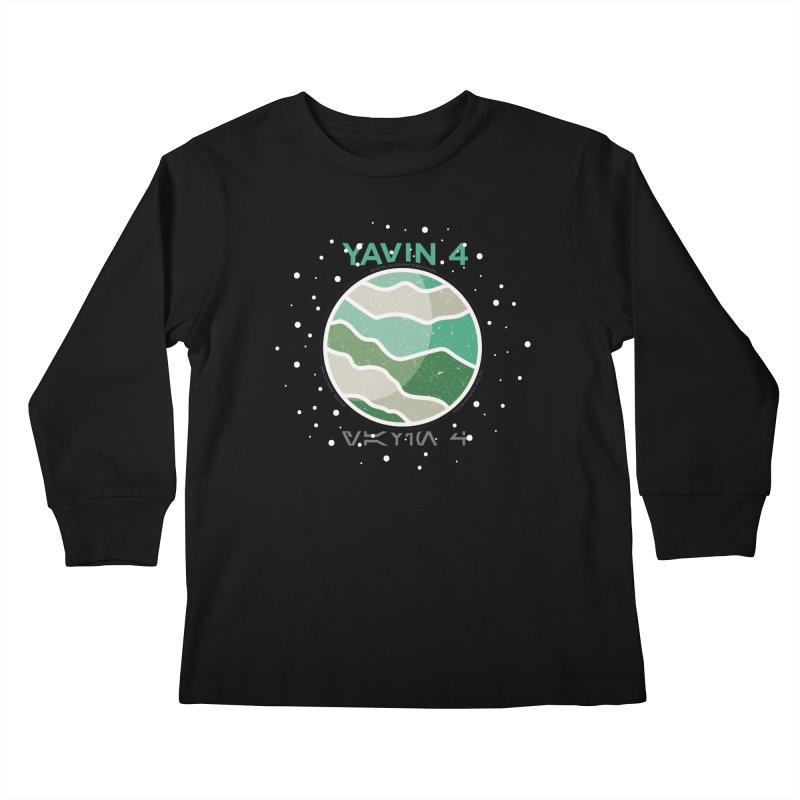 Yavin 4 Kids Longsleeve T-Shirt by 5eth's Artist Shop