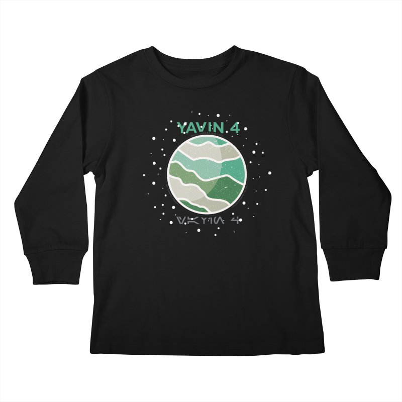 Yavin 4 Kids Longsleeve T-Shirt by 5eth's Artist Shop