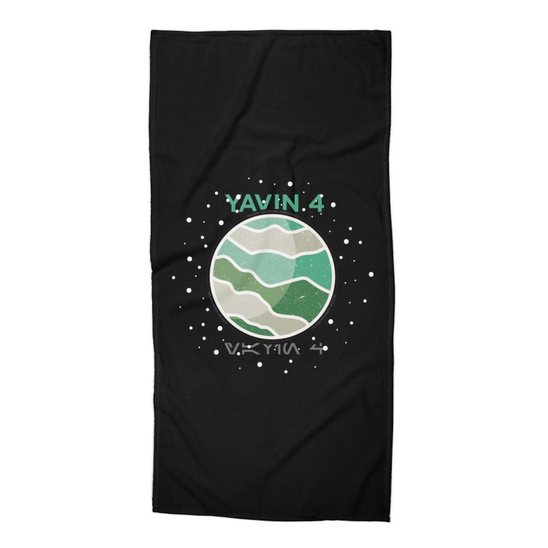 Yavin 4 Accessories Beach Towel by 5eth's Artist Shop