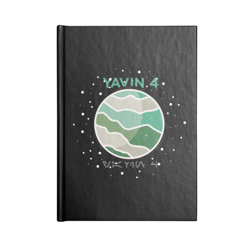 Yavin 4 Accessories Lined Journal Notebook by 5eth's Artist Shop