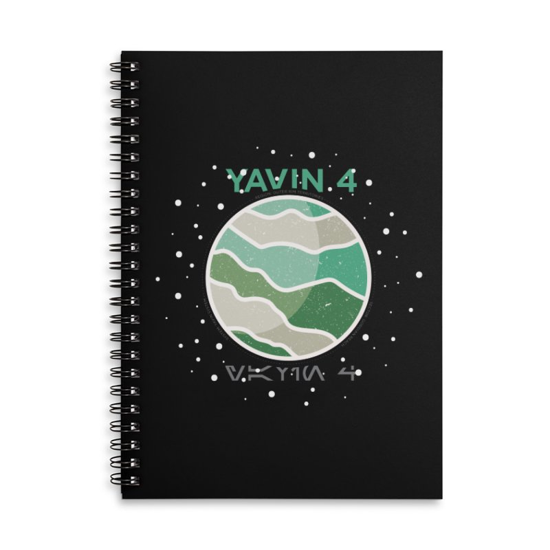 Yavin 4 Accessories Lined Spiral Notebook by 5eth's Artist Shop