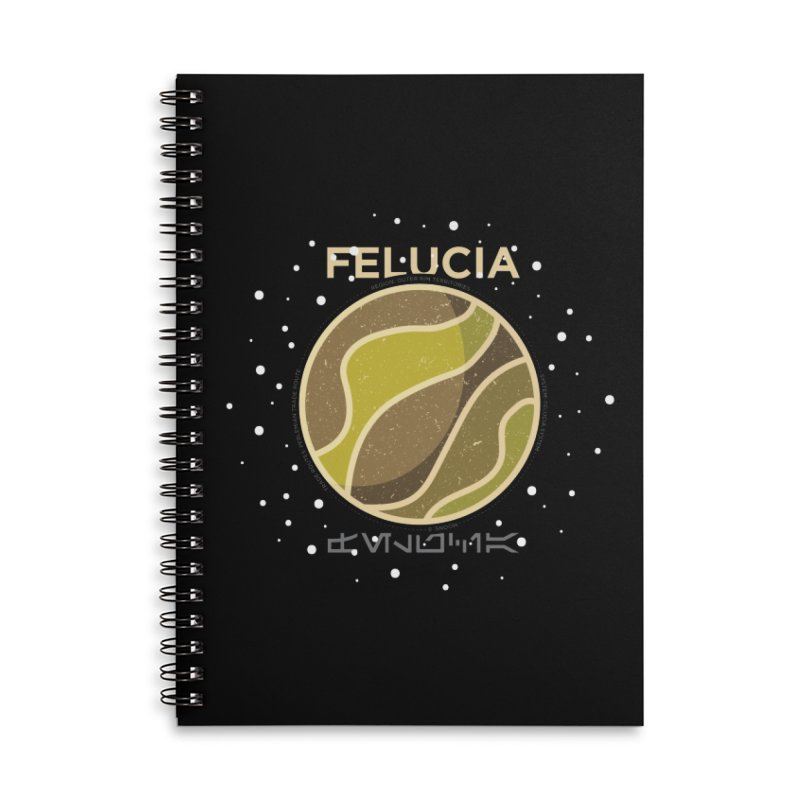 Felucia Accessories Lined Spiral Notebook by 5eth's Artist Shop