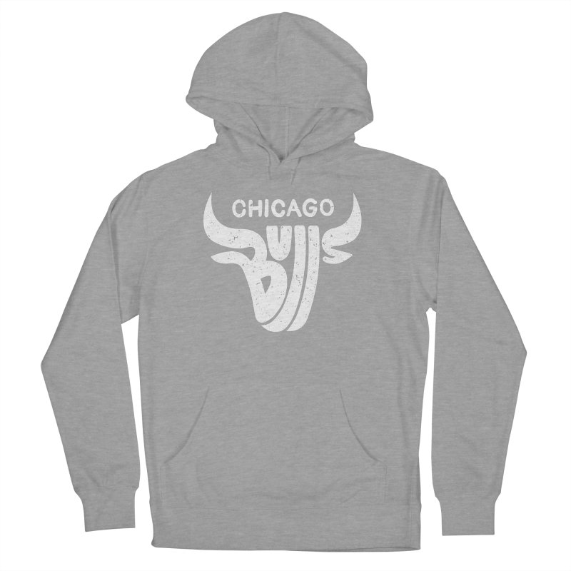 Bulls (White) Women's French Terry Pullover Hoody by 5eth's Artist Shop
