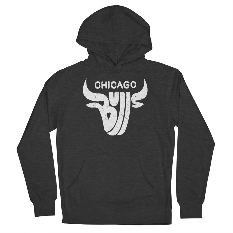 Bulls (White) Men's French Terry Pullover Hoody by 5eth's Artist Shop