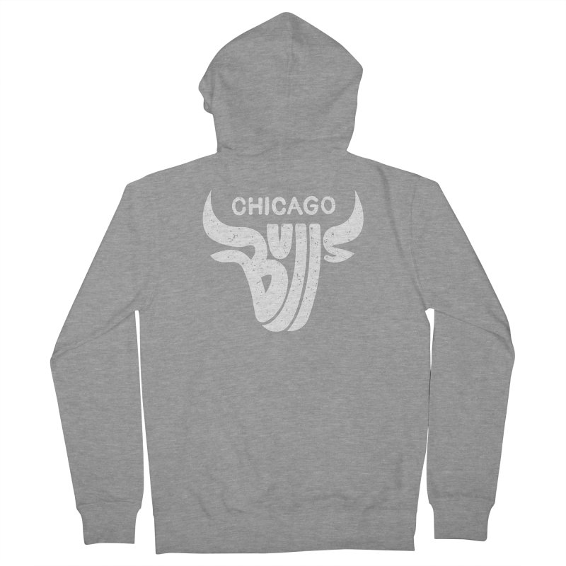 Bulls (White) Men's Zip-Up Hoody by 5eth's Artist Shop