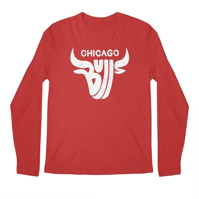 Bulls (White) Men's Regular Longsleeve T-Shirt by 5eth's Artist Shop